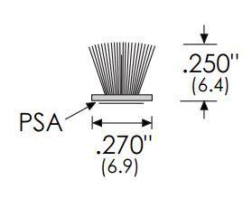 Product Specs of Zero International 137P Adhesive Pile Brush Weatherstrip
