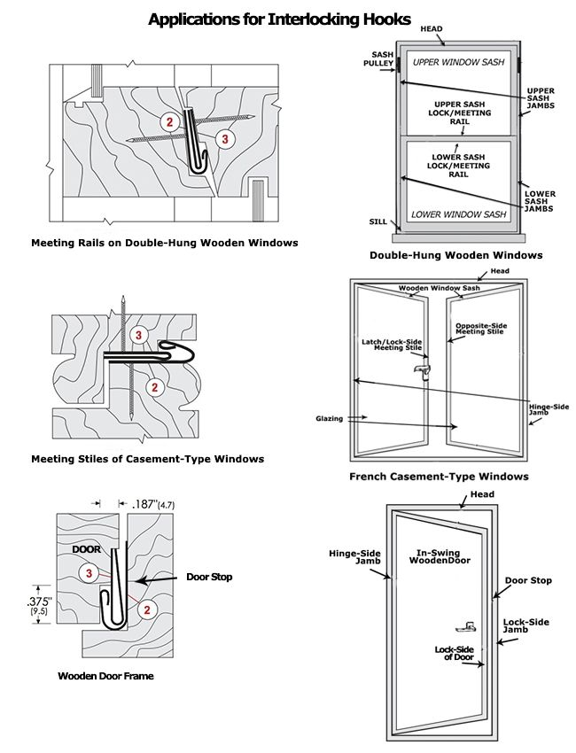 Click to Print.  sc 1 st  Trademark Hardware & Interlocking Metal Weatherstripping Hooks for Wooden Windows and ... pezcame.com