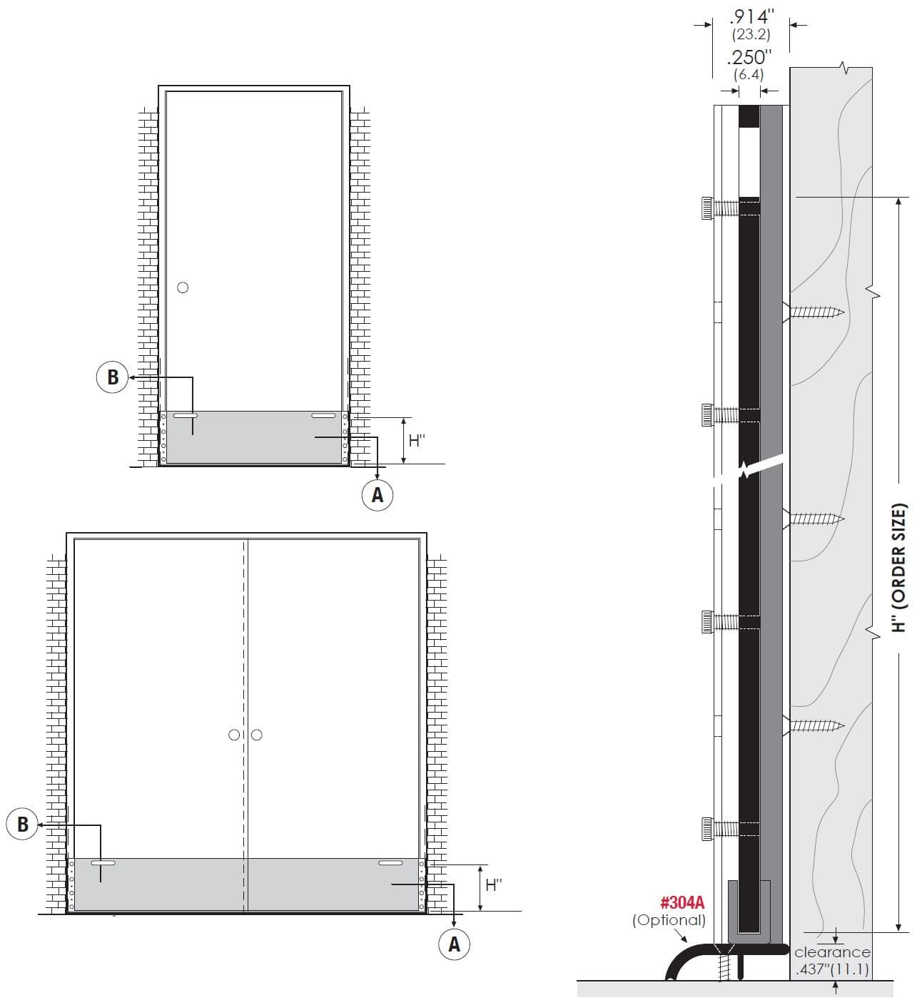 Product Specifications of TH72070 Flood Barrier Shield