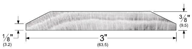 """Product Specs of 3"""" Wide Oak Seam Binding or Doorway Threshold by Pemko, 2300W"""