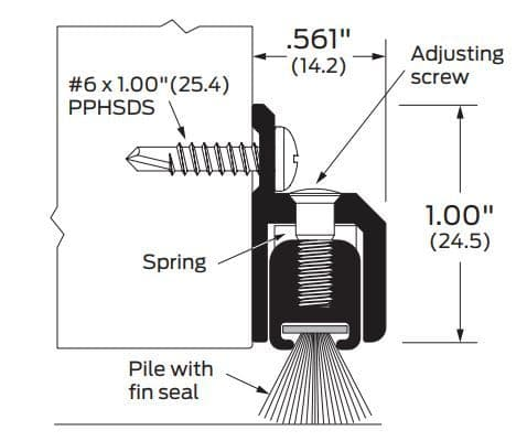 Product Specs of Door Bottom with Adjustable Pile Brush Seal
