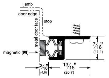 Door Gasket with Magnetic Seal for Metal Doors by Pemko - 2815