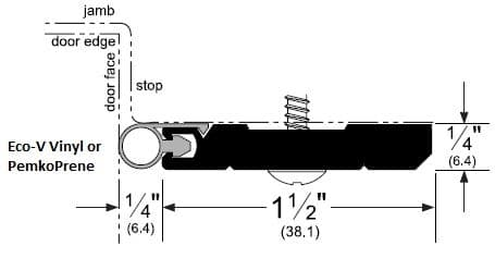Heavy Duty Door Gasket for Headers with Eco-V and PemkoPrene Seal by Pemko