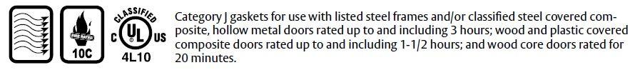 Compliance Details for Pemko Door Gasket with Eco-V Bulb Seal