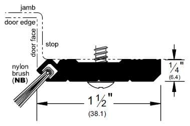 Product Specs for Heavy Duty Gasketing with Pile Brush Seal - P28945