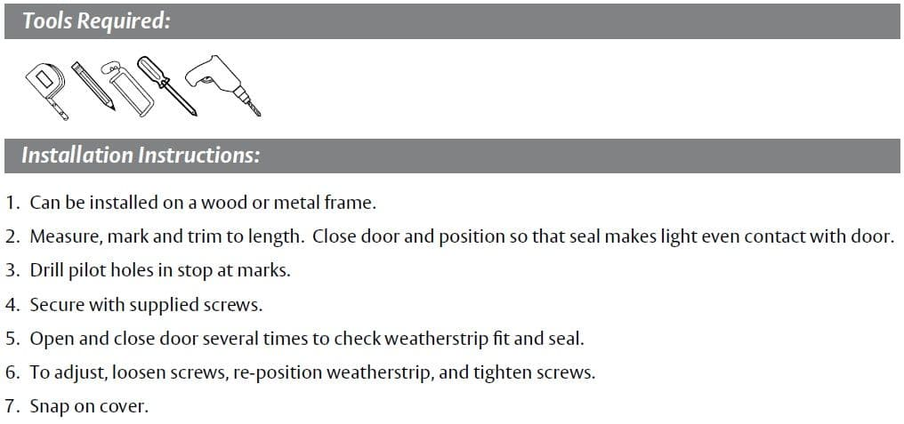 Installation Guide for Door Gasket with Triple Foam Bulb Seal by Pemko