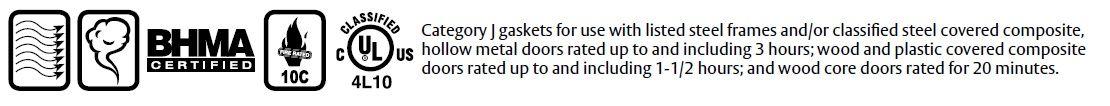 Compliance Details of 296PK- Door Gasket with PemkoPrene Seal