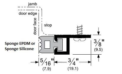 Product Specs of Door Gasket with Sponge EPDM or Sponge Silicone Seal