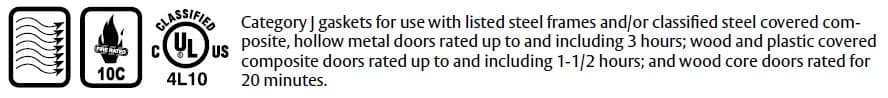Compliance Details for Door Gasket with Eco-V Bulb Seal - 306V