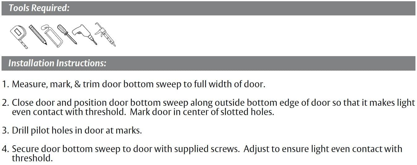Installation Guide for Door Bottom with Vinyl Seal by Pemko