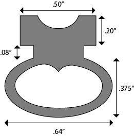 Product Specs of Z3365, Solid Neoprene Bulb Seal Replacement for Zero International Door Gaskets and Automatic Door Bottoms