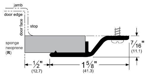 Product Specs of Door Gasket with Sponge EPDM Seal - P375