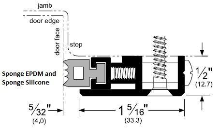 Product Specs of Adjustable Door Gasket with Sponge EPDM or Sponge Silicone Seal - P379R, P379S