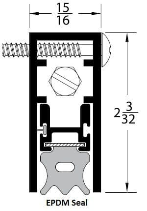 product specs for pemko OS4301 door bottom with EPDM seal