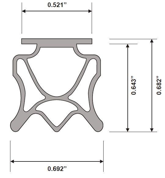 PemkoPrene Insert Replacement for 434 Automatic Door Bottom
