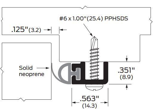Product Specs for Door Gasket 485 from Zero International