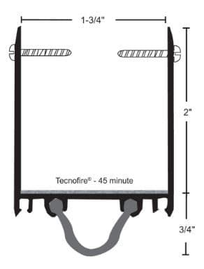 product specs of NGP 9245N door shoe sweep for fire doors with excessive undercut