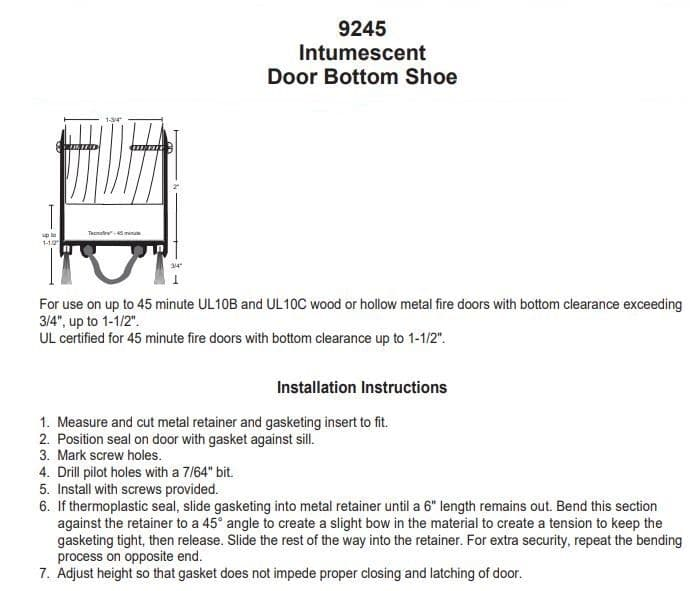 Installation Instruction for 9245N