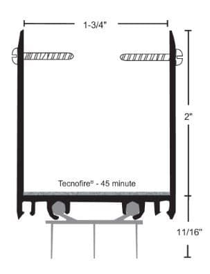 product specs of NGP 9250T door shoe sweep for fire doors with excessive undercut