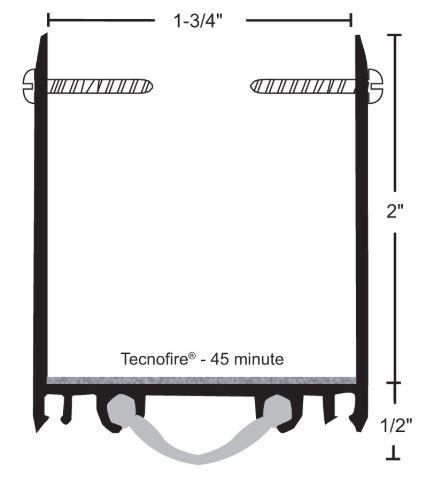 product specs of NGP 9250V door shoe sweep for fire doors with excessive undercut