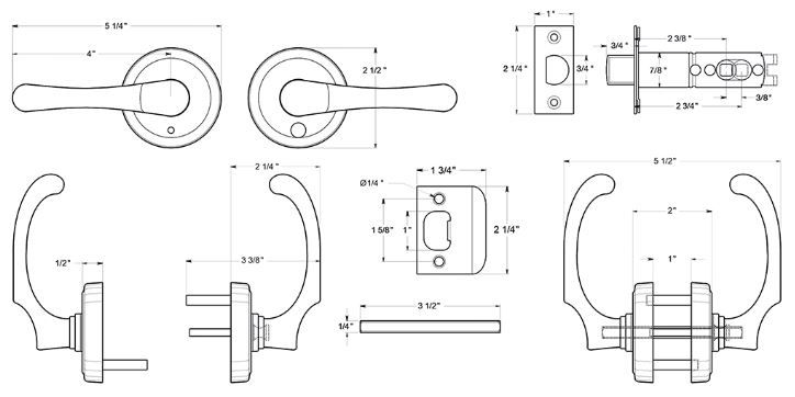 Product Specs for Deltana Privacy Door Knob for Bathroom and Bedrooms