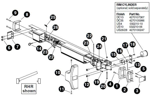 panic bar installation instructions