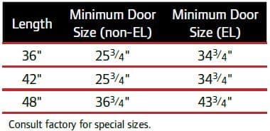Falcon Size Options