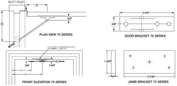Overhead Door Applications : Glynn johnson series overhead door holder and stop