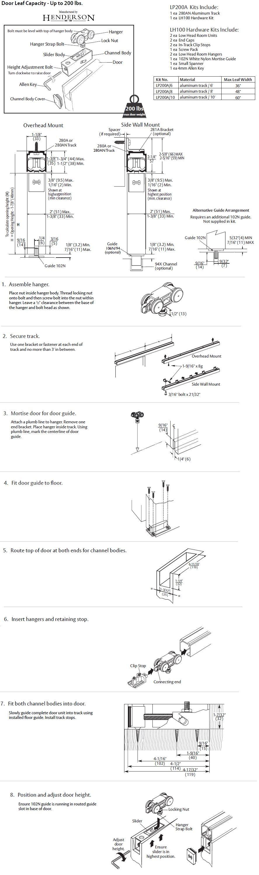 sliding door installation instructions