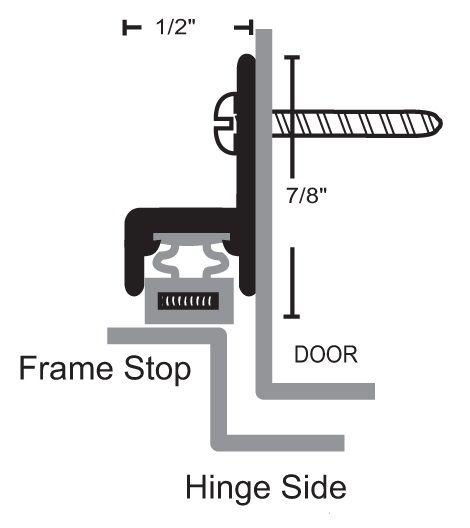 157 Door Gasket with Magnetic Seal for Metal Doors by NGP