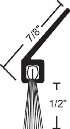 Product Specs of NGP 602 Door Bottom Sweep with Nylon Brush