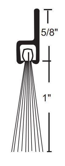 Product Specs of NGP 633 Door Bottom Sweep with Nylon Brush