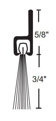 Product Specs of NGP 634 Door Bottom Sweep with Nylon Brush
