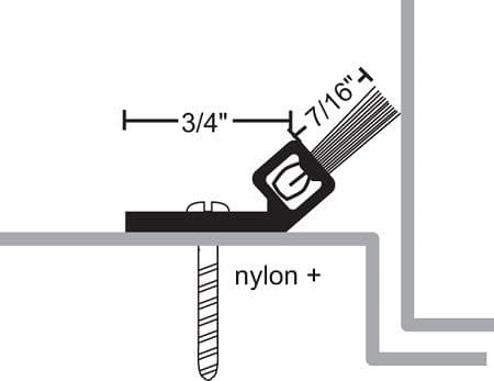 Product Specs of NGP 9000 Door Bottom Sweep with Nylon Brush