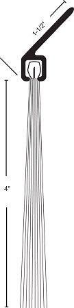 Product Specs of NGP I-624 Door Bottom Sweep with Nylon Brush