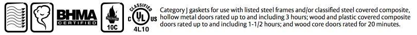 Door Gasket, Aluminum or Bronze with Choice of Seals