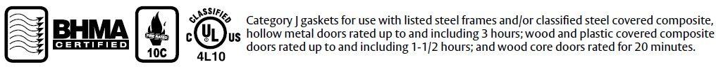 Compliance Details for Door Gasket with Sponge Neoprene Seal