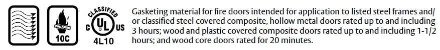 Compliance Details for Adjustable Door Gasket with Rubber Seals - P350