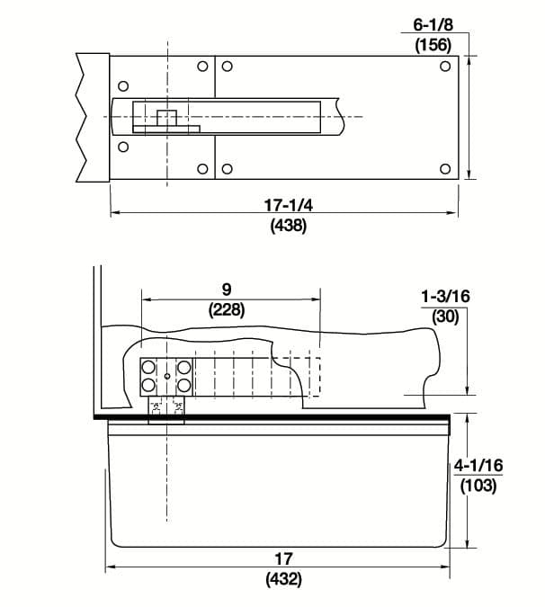 ... Template For Heavy Duty Center Hung Rixson Floor Closer With Side Load  Arm ...