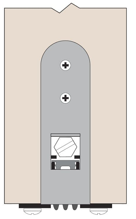 "Product Specs of TH114 Automatic Door Bottom for 1-3/8"" Door"