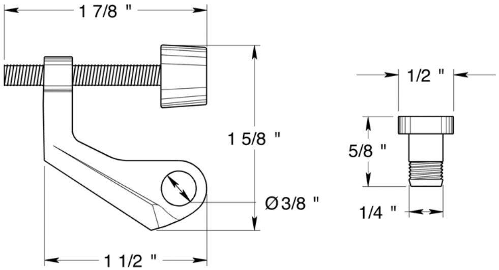 Deltana solid brass door mounted hinge pin stop