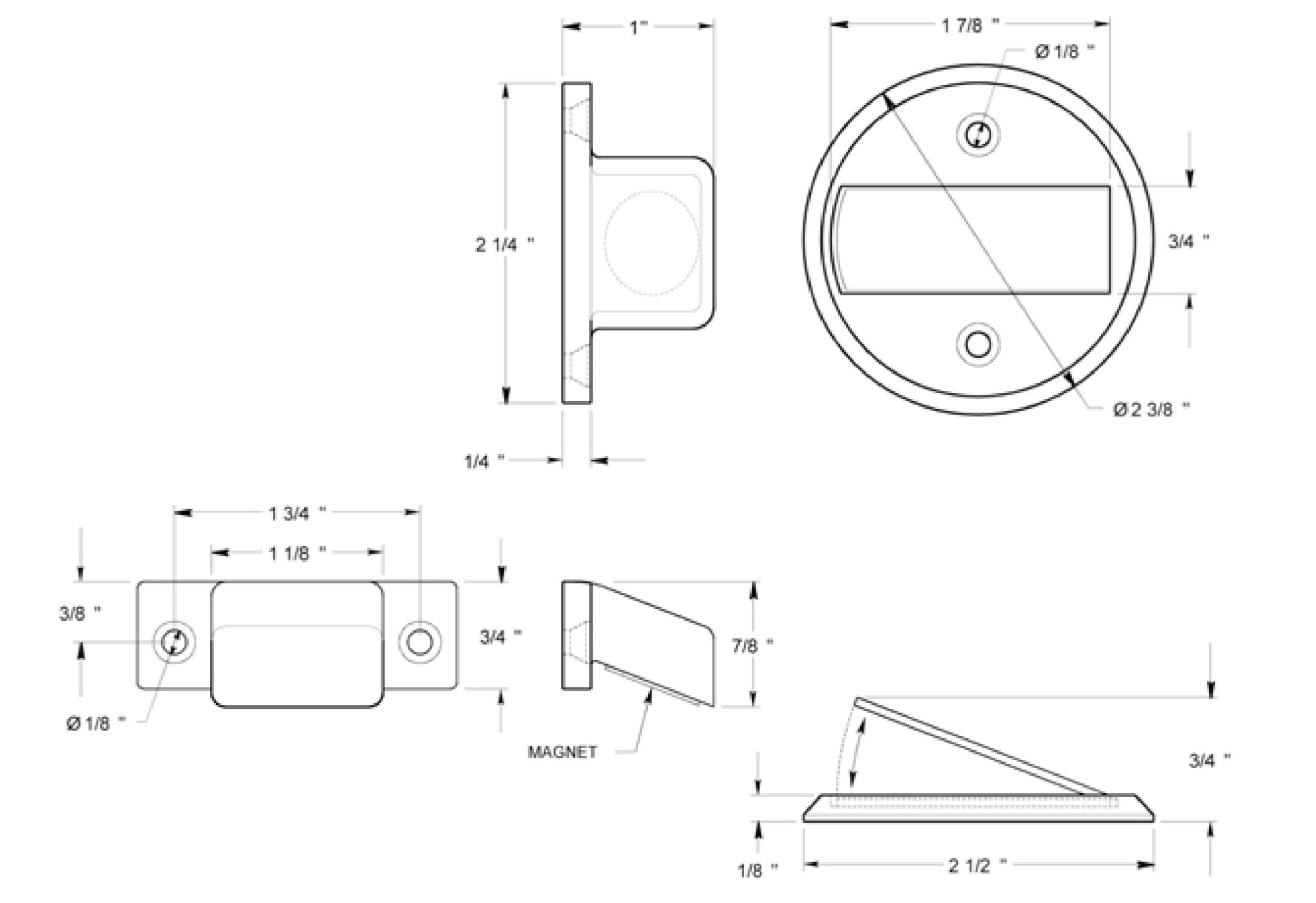 magnetic door stop instructions