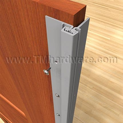 Roton continuous geared hinges installation - Hinge placement on exterior door ...