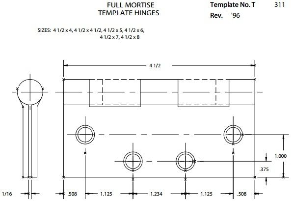 Hager quickship bb1279 hinge ball bearing hinges for How to make door hinge template