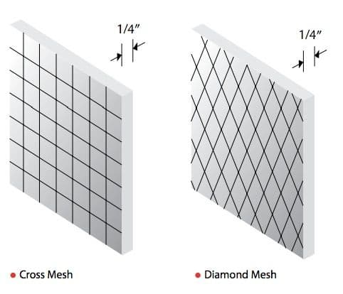 """Polished Wired Glass for Vision Lites, Wire Mesh, .25"""" Thick, made ..."""