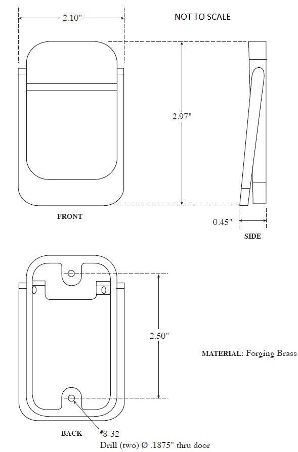 Product Specs of Rockwood 614 Door Knocker