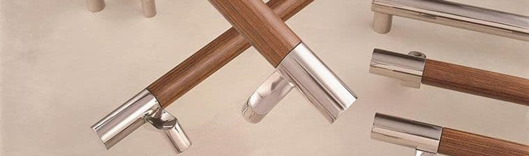 ArborMet Brass and Wooden Architectural Door Pulls made by Rockwood Manufacturers