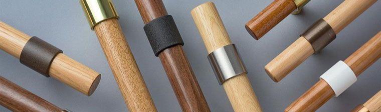 ArbortMet Collars Brass and Wooden Door Pulls made by Rockwood Manufacturers