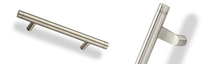 Groove Contemporary Postmount Style Pulls made by Rockwood Manufacturers