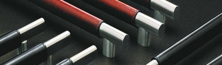 Leather-Oval Architectural Door Pulls made by Rockwood Manufacturers